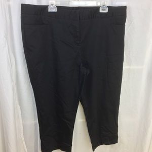 Black Sateen cropped pants 22W